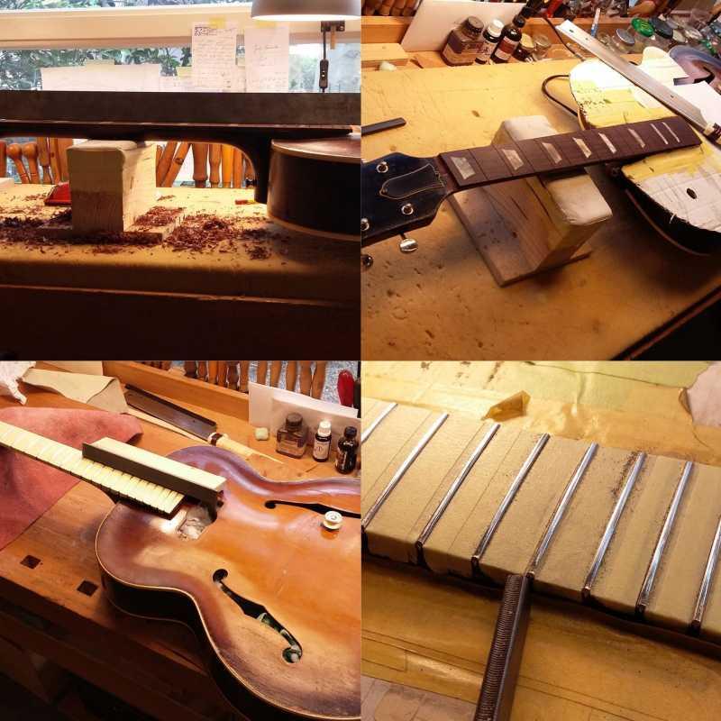 restoration refret ES150 1947 Bosma guitars Dordrecht about wout vierkant compilatie (1)